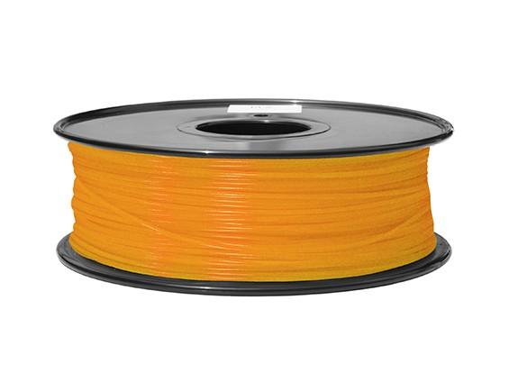 HobbyKing 3D打印机长丝1.75毫米ABS 1KG阀芯(透明橙)