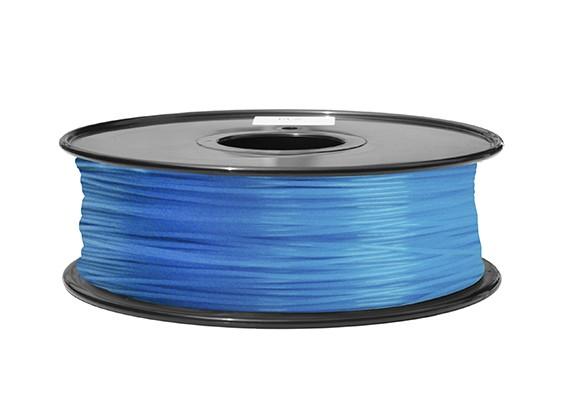 HobbyKing 3D打印机长丝1.75毫米ABS 1KG阀芯(在黑暗中发光 - 蓝)