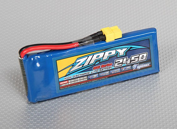 ZIPPY Flightmax 2450mAh 2S1P 30C(美国仓库)