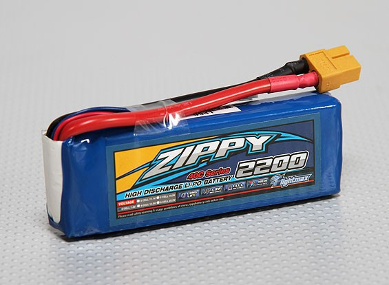 ZIPPY Flightmax 2200mAh的2S1P 40℃