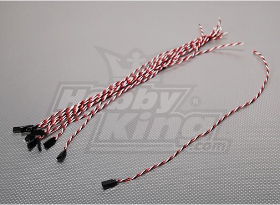 45厘米女22AWG双绞线(10片/袋)