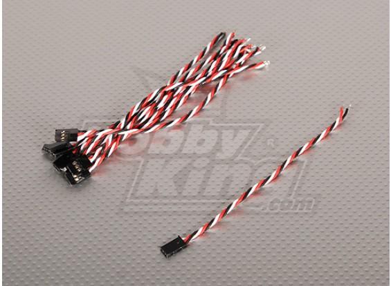 15厘米男22AWG双绞线(10片/袋)