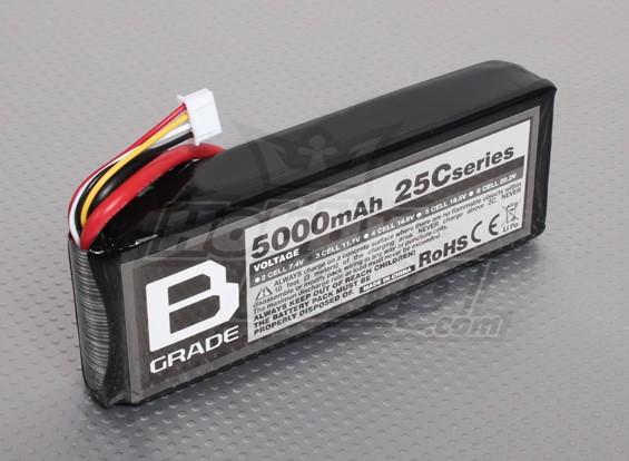 B级5000mAh的3S 25C Lipoly电池