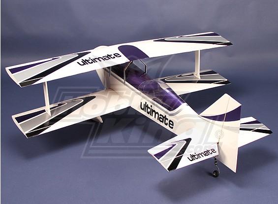终极0.40双翼飞机EP /夜光41.7.6in巴尔沙/帘布层包