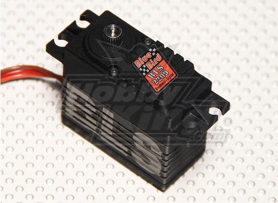BLS-2209高电压(7.4V)无刷数字伺服瓦特/钛合金齿轮26.4公斤/ 0.08sec /66克
