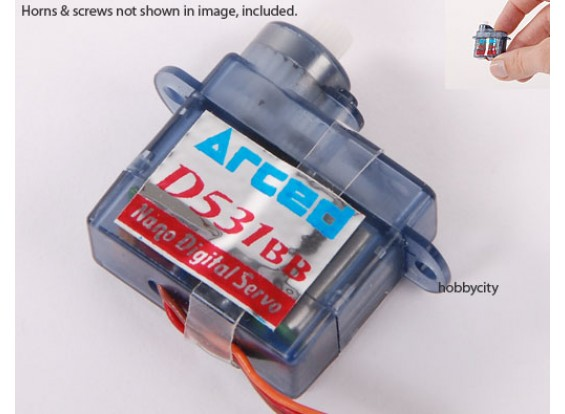 D531BB-V2辛微型伺服0.51公斤/ .09sec /3.7g(售罄)