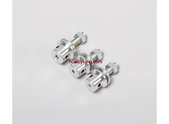 道具适配器W /钢螺母M5x2mm轴(埋头螺钉型)