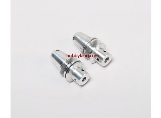 道具适配器W /铝锥M8x5mm轴(埋头螺钉型)