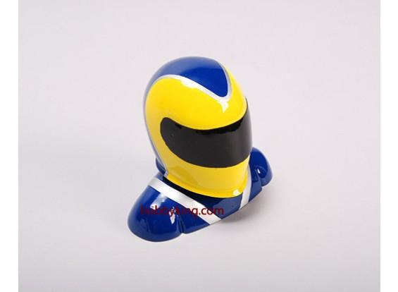 玻璃纤维驾驶员模型黄色和蓝色(小)