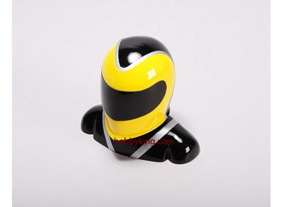 玻璃纤维驾驶员模型黄色和黑色(X-大)