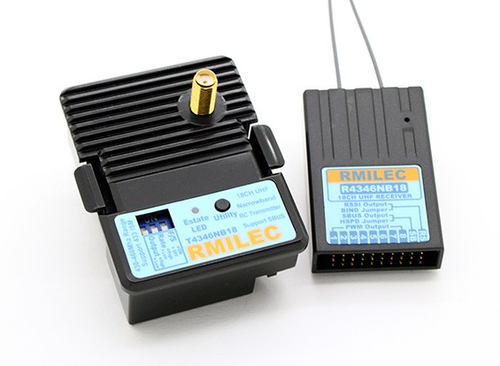 RMILEC T4346NB18-J / R4346NB18 430-460Mhz 18ch LRS无线电系统(JR引脚配置)