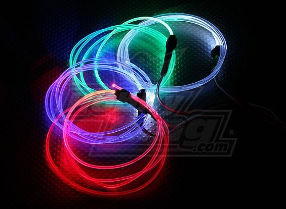 光纤灯为夜间飞行(蓝色)
