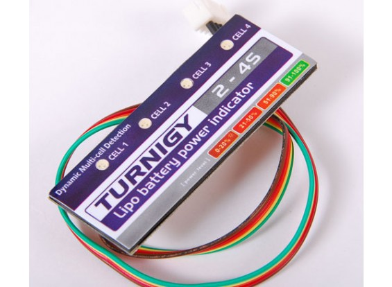 Turnigy锂聚合物电源指示灯3S和4S