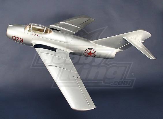 米格-15玻纤90毫米EDF喷气,1127毫米(ARF)