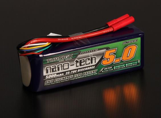 Turnigy纳米技术5000mAh的5S 35〜70℃的脂微球包
