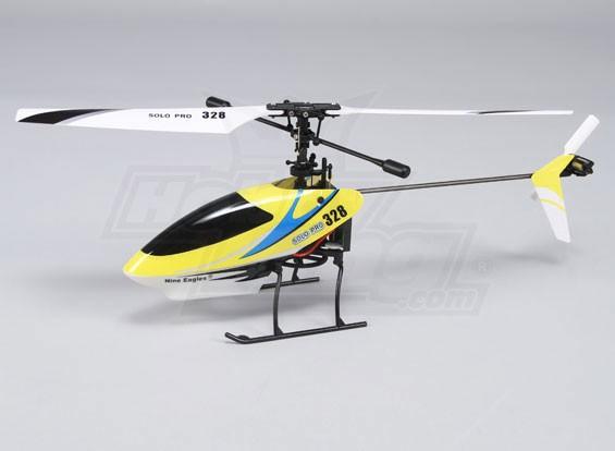 独奏临328 4路固定摊位直升机 - 黄色(RTF)美式插头
