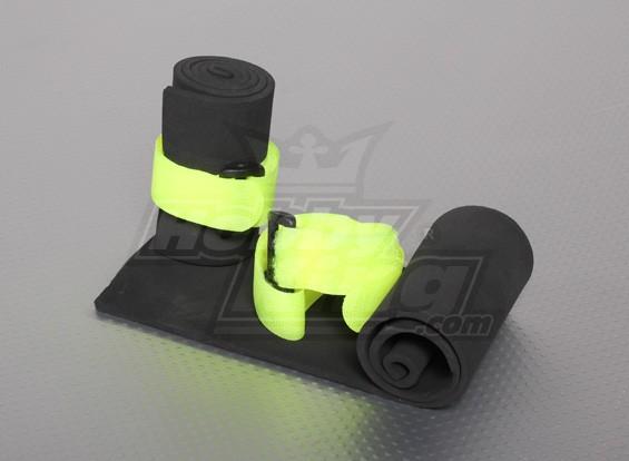 接收器通用海绵保护与Velcro表带(2个)