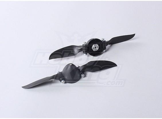 折叠式螺旋桨W /集线器35毫米/3毫米轴6.5x4(2个)