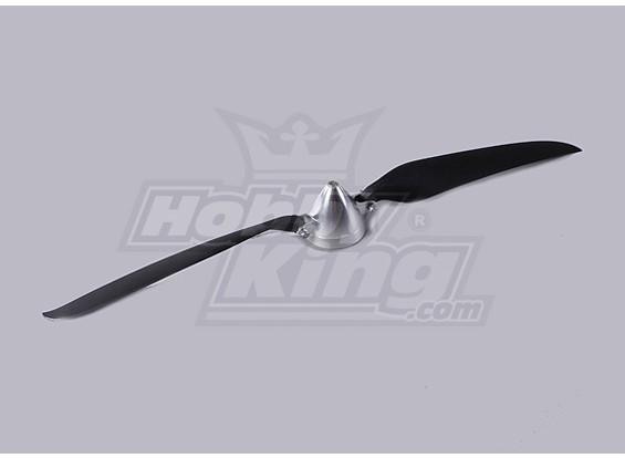 折叠式螺旋桨W /铝合金花鼓50毫米/5毫米轴15.5x9.5(1个)