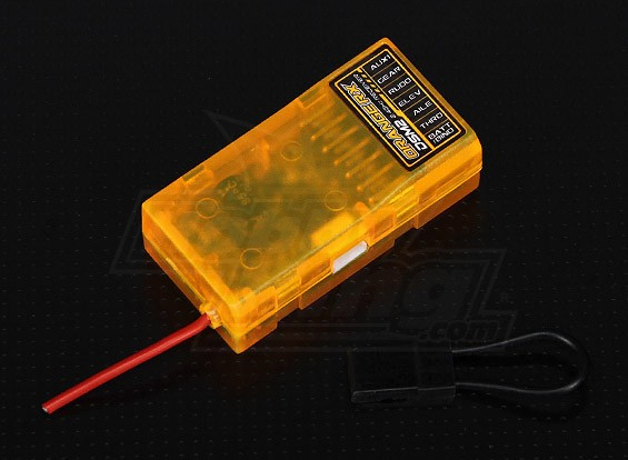 OrangeRx的Spektrum R610 DSM2 6CH的2.4GHz接收器(W /周六端口)