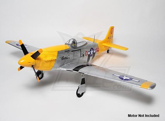 P-51D野马1.2米EPO与汽车雨棚(ARF)