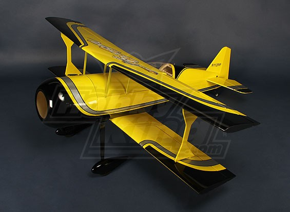 HobbyKing®™皮茨-S12的Python(黄/黑)EP1370毫米(ARF)