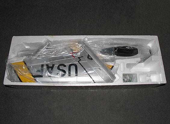 SCRATCH / DENT F-86哈夫EDF喷气70毫米电动缩回,襟翼,减速板,EPO(PNF)