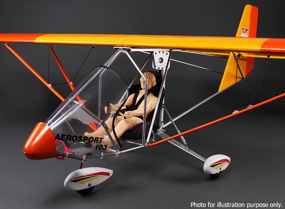 SCRATCH / DENT  -  Aerosport 103 GP / EP规模超轻巴尔沙2390毫米(ARF)