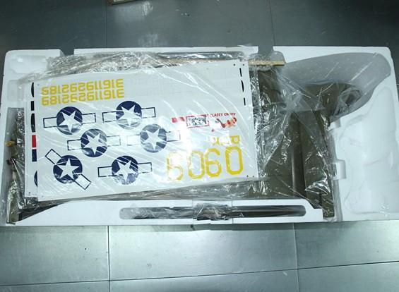 SCRATCH / DENT  -  HobbyKing™C-47军用轻轨运输EPO1600毫米(PNF)