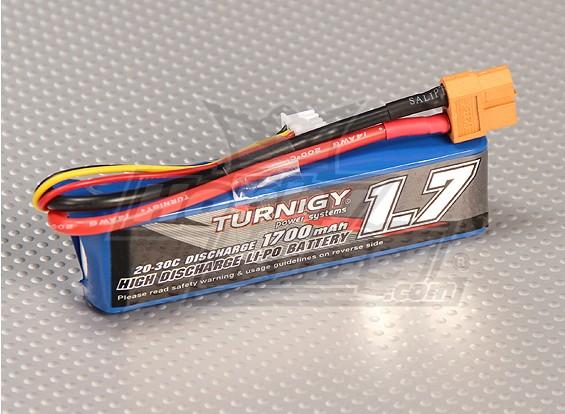 Turnigy 1700mAh的2S 20C前列包(套1/16的怪物披头士,SCT和越野车)