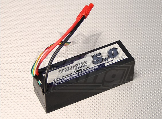 Turnigy 5000mAh的14.8V 4S1P 20C HARDCASE包