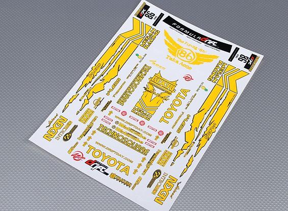 不干胶贴纸表 - 丰田汽车漂移1/10比例