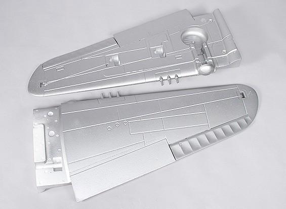 P-40N(银)1700毫米 - 更换主翼
