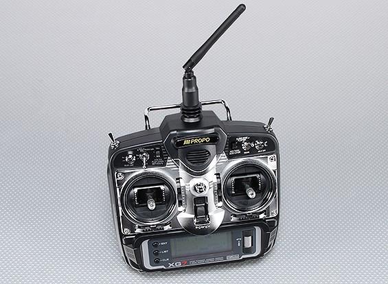JR XG7 7通道2.4GHz的DMSS变送器瓦特/ RG831B接收机(模式2)