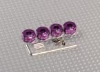 紫色铝合金轮毂适配器与锁螺钉 - 6毫米(12毫米十六进制)
