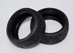 1时10分面积橡胶房车轮胎W /轮距26毫米 - 中等化合物(2个)
