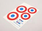规模国家空军徽章贴纸表 - 法国(大)