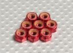 红色阳极氧化铝M5 NYLOCK螺母(8件)