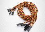 扭曲的80厘米伺服扩展导线(JR)22AWG(5件/套)