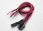 男2针Molex插头,带红色/黑色20厘米与PVC 26AWG线(5片装)