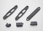 伺服安装,天线支架和电池板 -  1/10 Hobbyking使命-D 4WD GTR汽车漂移