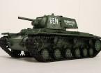 KV-1S Ehkranami遥控坦克RTR W /气枪/烟雾和Tx
