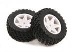 H-王沙尘暴1/12两轮驱动沙漠越野车 - 完整的后轮胎套装(2个)