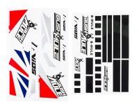 Avios BushMule - Sticker Set (Red/Blue)