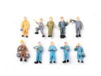 1/87th (HO scale) Assorted Standing Workmen Figures (10pcs)