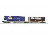 Roco/Fleischmann HO Articulated Double Pocket Wagon AAE AG (ROTRA & MAINSPED)