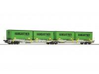 Roco/Fleischmann HO Articulated Double Pocket Wagon AAE AG (Hanggartner)