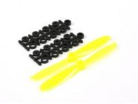 5045电动螺旋桨(顺时针和逆时针)黄色1对/袋