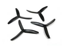 塑料的Diatone 3叶螺旋桨5040(CW / CCW)(黑色)(2对)