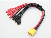 XT60至6×3.5毫米子弹多星ESC电源分支电缆